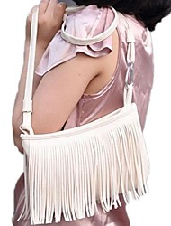 Women's  PU Leather Tassel Fringe Crossbody Messenger Mini Bag