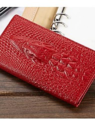 MEGA Women's &Men's Crocodile Genuine Leather Credit Card ID Holders Coin Purse