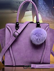 Women's Bright Color Capacious Pu Handbag