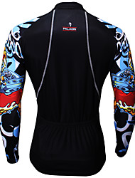 Sports Cycling Jersey Men's Long Sleeve Bike Breathable / Ultraviolet Resistant / Sweat-wicking Tops Coolmax Cartoon Summer / Fall/Autumn