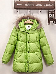 Girl's The new children down jacket Girls warm heavy hair feather coat