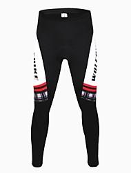 wolfbike unisex bicicleta de montanha de inverno à prova de vento fina sportswear fleece ciclismo pants- preto