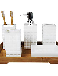 Bath Accessory Set,Contemporary Bathroom Kits Wedding Set 5 Piece