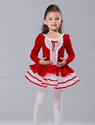 Kids' Dancewear Tops / Dresses&Skirts / Tutus Children's Chiffon / Spandex / Tulle / Velvet Ballet / Performance Long Sleeve