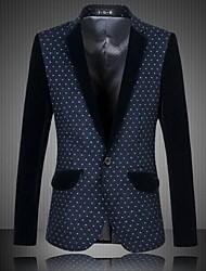 Men's Long Sleeve Blazer , Cotton Blend Casual