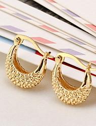 Heroine Fashion Moon Shiny Earrings