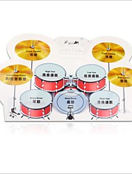 Portable Silicon Foldable Electronic Roll Up Drum Pad Kit with Stick and USB Cable