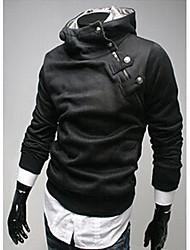 la moda de Johnny hombres leiaure suéter terry térmica