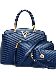Pulado Women's Fashion Solid Color Three Piece Set Bag