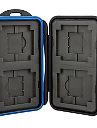CowboyStudio Professional Rubber Sealed, Water Proof Memory Card Case for 4 PCS (Not Include The Memory Card)