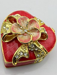 Heart Shape With Flower Trinket Box