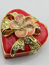 forme de coeur avec la boîte fleur bijou