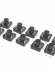 4-pin Tact Switch Tactile Push Button Switch DIY 12 x 12 x 9.5mm (20 pcs)