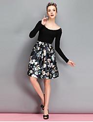 GMY Women's All Matching A Line Print Skirt