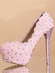 Women's Wedding Shoes Heels/Platform/Round Toe Heels Wedding Pink