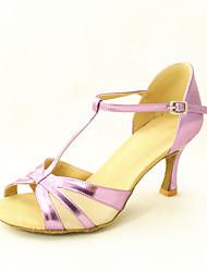 Zapatos de baile (Negro/Gris) - Danza latina/Salón de Baile - Personalizados - Tacón Personalizado