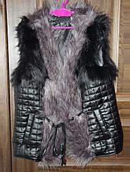 Coko&De женщин западный искусственный мех большой двор короткого жилет пальто