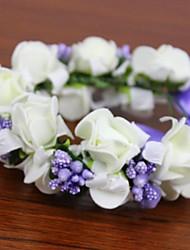 ceinture artificielles fleurs pe mousse rosette réalisés à la main mariée poignet corsages mariage fleurs de femmes