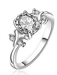 proposer des parties de la mode contracté rouge brillant anneau blanc de 925 argent