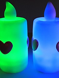 nueva iove romántica llevó la luz del emisor de vela electrónica (5 pack, rojo, naranja, rgb)