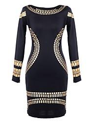 moda casual das mulheres milliya equipado vestido elegante