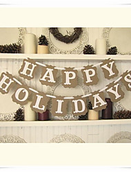 "Vintage ""HAPPY HOLIDAYS"" Banner Set of  13 pieces"