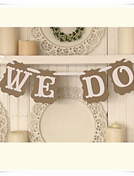 "Wedding Décor "" WE DO""  Engagement Party Banner"