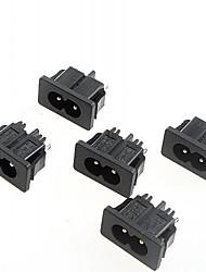 8 caractères prise de courant prise 2.5a / 250vac alternatif (5pcs)