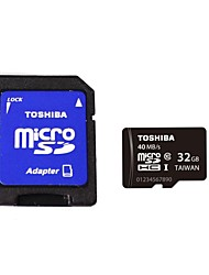 Toshiba  Micro SDHC TF Card 32GB  Class UHS-I  w/ SD Adapter R:40MB/S  SD-C032GR7AR040ACH