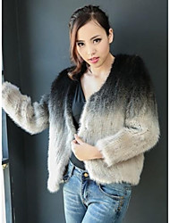 Fur Coats Women's Mink knitted cardigan Fur Coat(More Color)