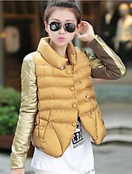 lc&moda casual casaco curto de algodão ph das mulheres