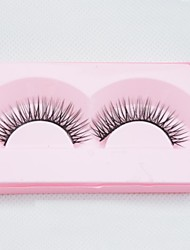 New Korea 1Pairs Natural Long Eye Lash Thin False Eyelashes