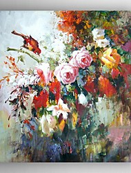 Oil Painting Modern Impression Floral Hand Painted Canvas with Stretched Framed