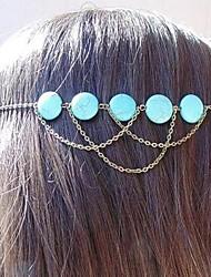 fascia dei capelli retroturquoise frange della Boemia delle donne