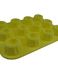 12 hoyos moldes de chocolate torta de la forma Gollum jalea de hielo, silicona 33 x 25 x 5 cm (13.0 × 9.8 × 2.0inch)