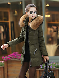 Women's Down Coat with Faux Fur Collar