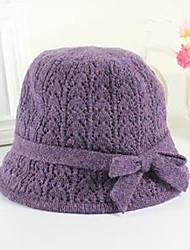 Women's Crimping Crochet Knitting Wool Hat