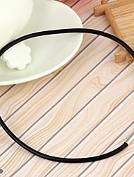 Unisex Simple Vinyl Necklaces Black (1Pc)