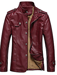 ordinaryroad мужская тонкий PU кожаное пальто