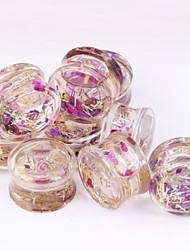 vendas quentes unsex líquido túnel carne ouvido calibre piercing jóias acrílico brinco um conjunto de 10 milímetros 2