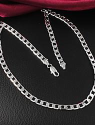 vsilver moda declaração temperamento colar de prata 925 mulheres