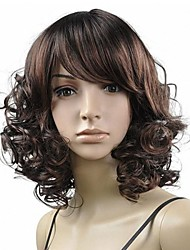 Middle Weave Curly Synthetic Full Band Wigs