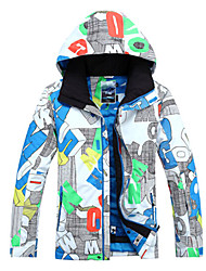 Gsou Snow Outdoor Colorful Letter Pattern Men's Thermal Ski Down Jacket