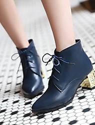zapatos de las mujeres del dedo del pie puntiagudo botines tacón grueso más colores disponibles