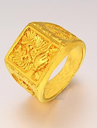 Can Bring Money Men 24 K Gold Ring