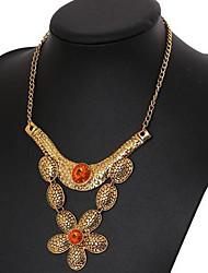 Women's Vintage Flower Zinc Alloy Necklace