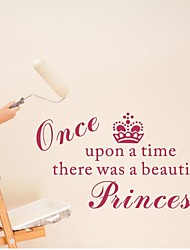 Wall Stickers Wall Decals, Home Decoration Princess Girl Nursery PVC Mural Wall Stickers