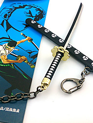 One Piece Roronoa Zoro 17cm Black Key Chain Cosplay Accessories
