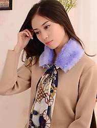 Women's Imitation Fur with Refresh Beatiful Silk Scarf Super Soft Scarves