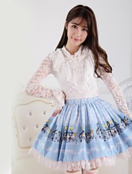 Blue Pretty Lolita Alice and Rabbit Concert Princess Kawaii Skirt Lovely Cosplay